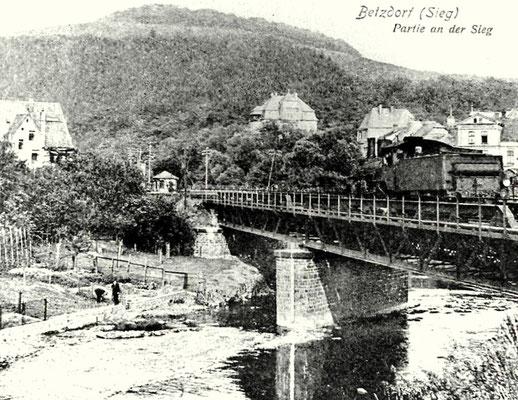 Betzdorf 1910: Lok P4.2 auf Siegbrücke