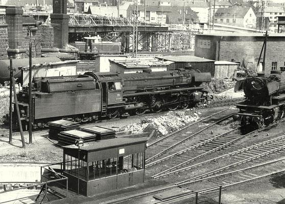 Bahnbetriebswerk Hagen-Eck 1964 mit 03 1076 Bw Hagen-Eck und 23 011 Bw Siegen
