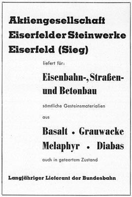 1959 Eiserfelder Steinwerke