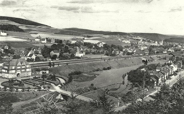 Der neue Bahnhof Siegen Ost in Kaan-Marienborn um 1935