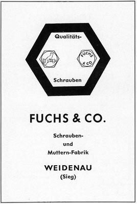 1953 Fuchs-Schrauben aus Weidenau