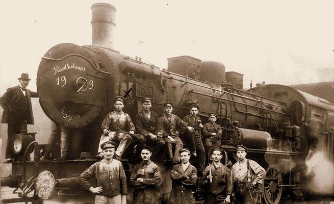 Giessen 1919: G10 5289 nach Arbeiten in der Kesselkolonne des Aw