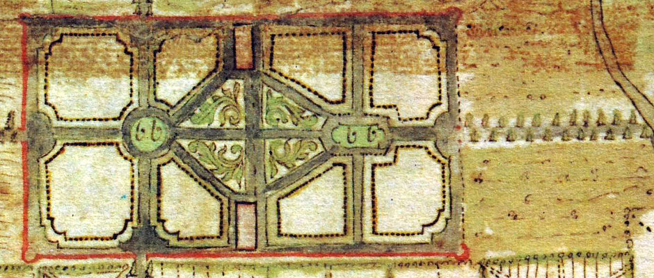 Originalanlage des Herrengartens von 1751