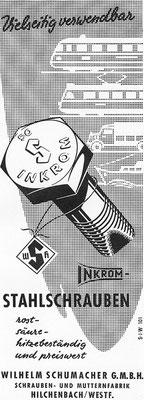 1959 Inkrom-Schrauben aus Hilchenbach