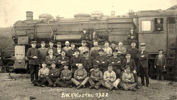 1922: Die Loks der Bauart G12 waren in den zwanziger Jahren der ganze Stolz des Bw Kreuztal