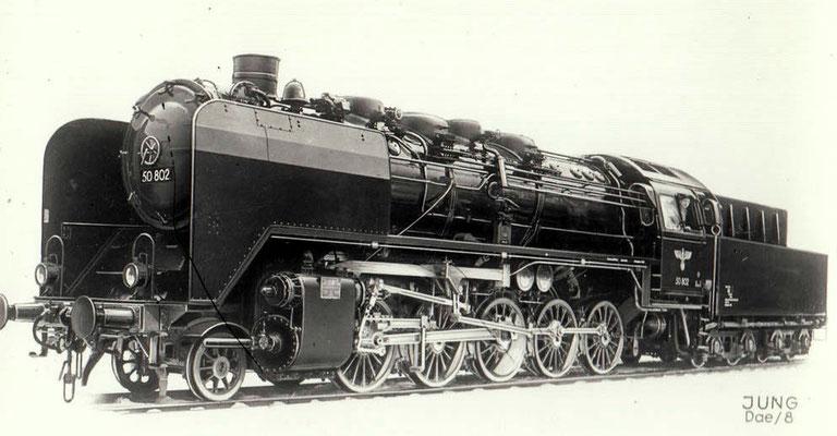 Güterzug-Dampflok 50 802 von 1941