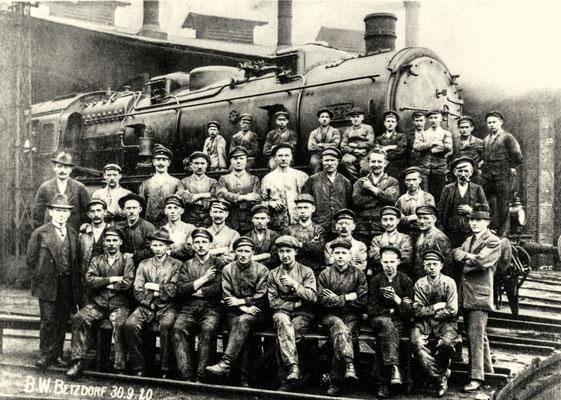 Betzdorf 30.09.1920: Lok 5525 (G12) im Bahnbetriebswerk
