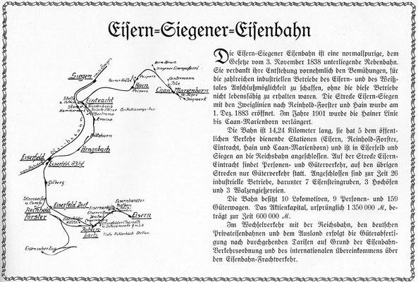 Streckennetz der ESE