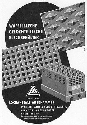 1959 Flender-Lochbleche aus Ferndorf