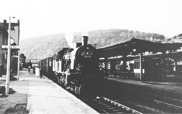 Dillenburg 1960: 78 475 Bw Friedberg mit Personenzug nach Giessen