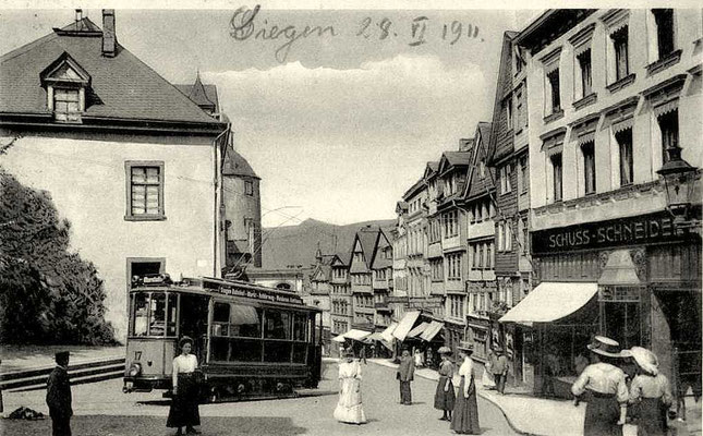 Wagen 17 in der Kölner Strasse 1911
