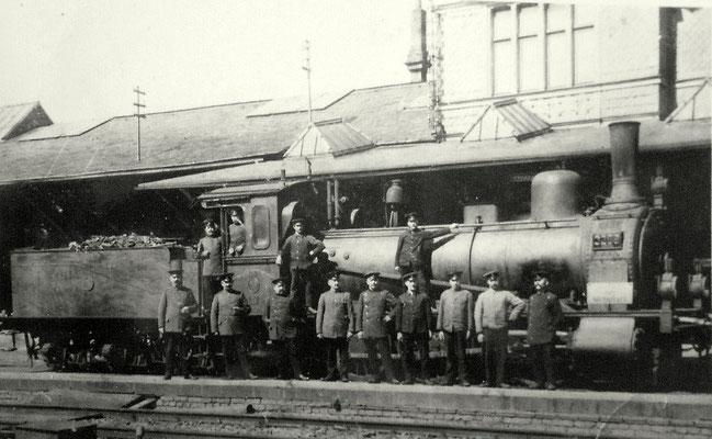 Lok G3 3206 vom Bw Kreuztal in Hilchenbach 1914
