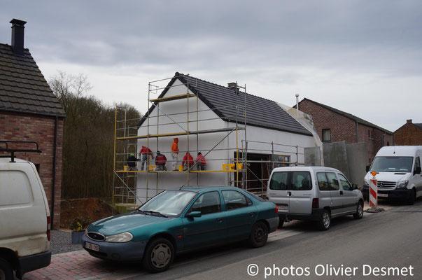 Enduits sur isolant - habitation basse énergie à La Bruyère