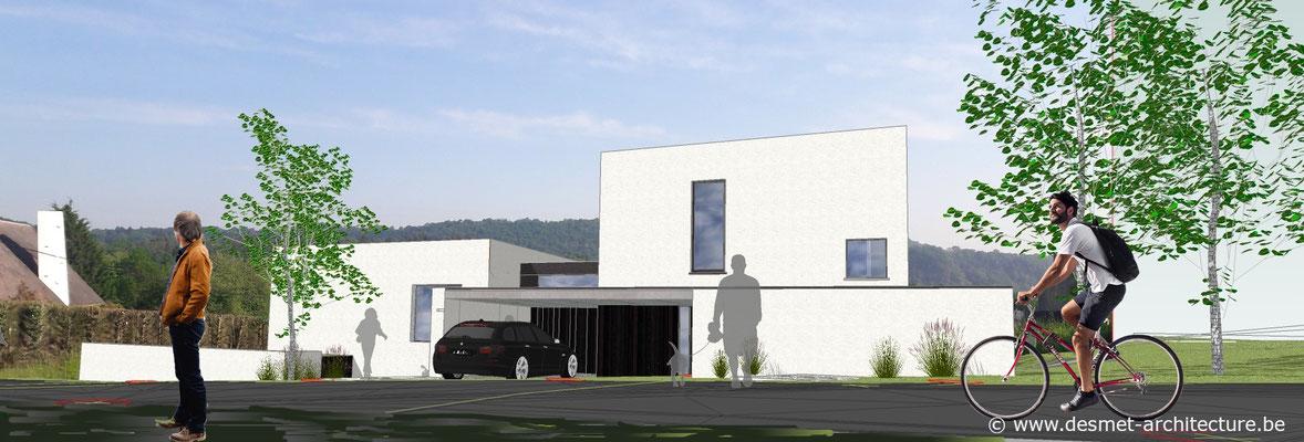 Construction de deux habitations mitoyenne à Profondeville