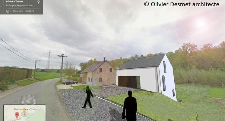Construction d'une habitation basse énergie à La Bruyère.