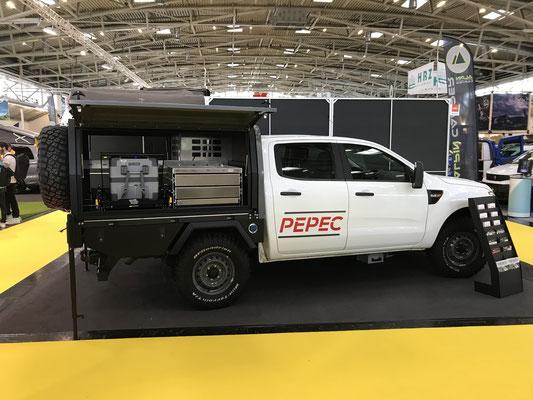PEPEC - Ford Ranger Pickup Ladefläche / Flachbettpritsche mit Absetzbox / Canopy und Camping / Overlander Ausbau
