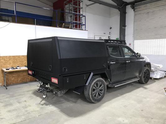 PEPEC - Mercedes X Klasse Pickup Festaufbau / Canopy mit 3 Flügeltüren