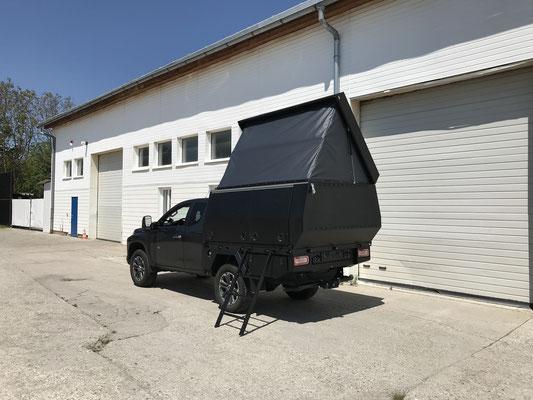 PEPEC - Mitsubishi L200 Pickup Ladefläche Flachbettpritsche Flachpritsche mit Wohnbox als Camper
