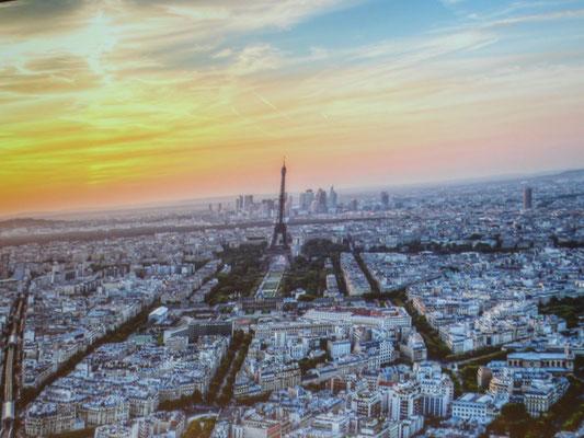Beautiful aerial view of Paris