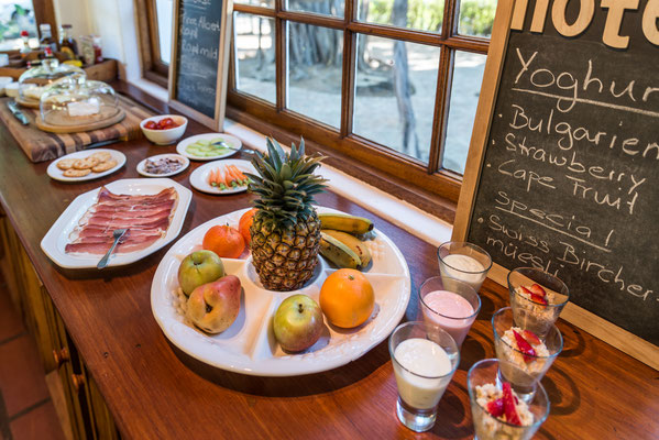 Reichhaltiges Frühstücksbuffet - Detail (Fruchtplatte)