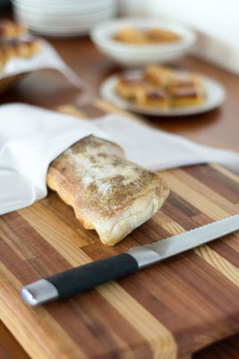 Rich Breakfast Buffet - Detail (Bread Cutting Board)