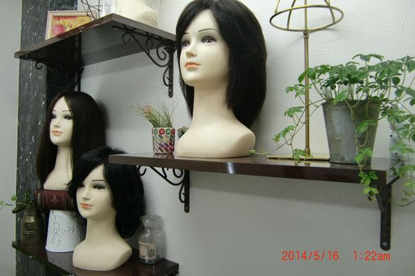 千葉市増毛かつら各種ございます。