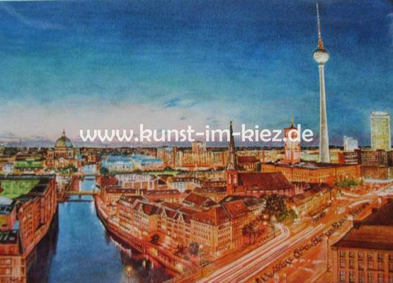 Nicolaiviertel- Dieter W. Glathe- 40x50 cm-Druck
