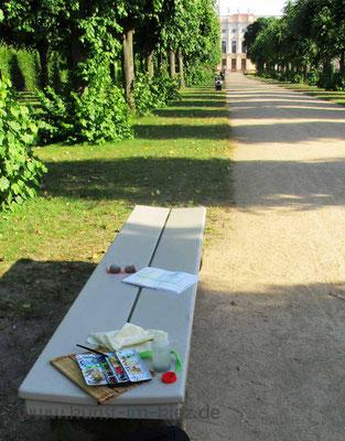 Künstlerfamilie Glathe im Schloßpark Charlottenburg