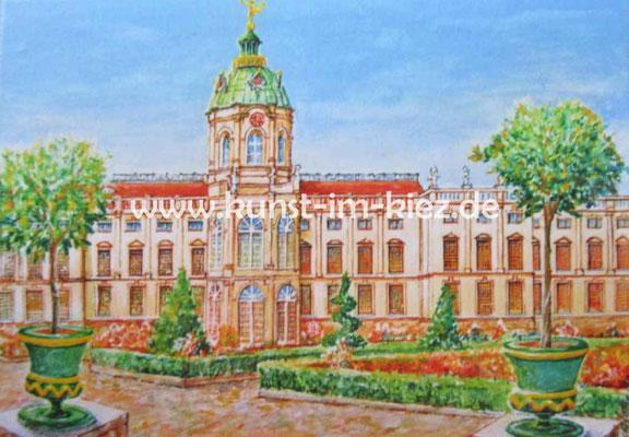 Schloß Charlottenburg- Dieter W. Glathe- 25x30 cm-Acryl auf Leinwand