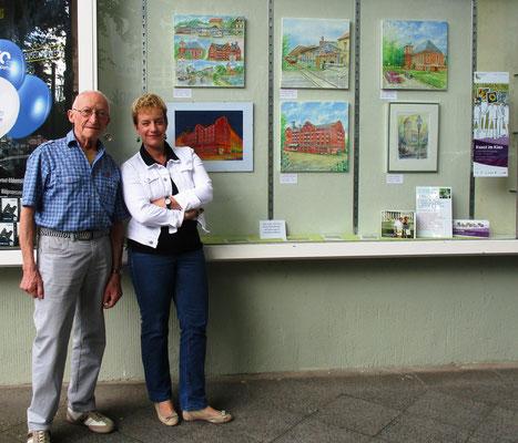 Künstlerfamilie Glathe- Kunstfenster in Lichtenrade 2017