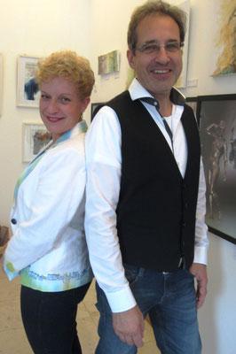 Künstler Sabine Glathe und Georg Grell zur Vernissage - Weibliche Enthüllungen-13.09.2017- Galerie Kunst und Grün-Berlin
