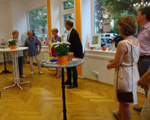 Künstlerfamilie Glathe mit Gastgeber Klaus Dieter Gröhler