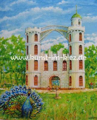 Pfaueninsel- Dieter W. Glathe- 50x 60cm-Acryl auf Leinwand
