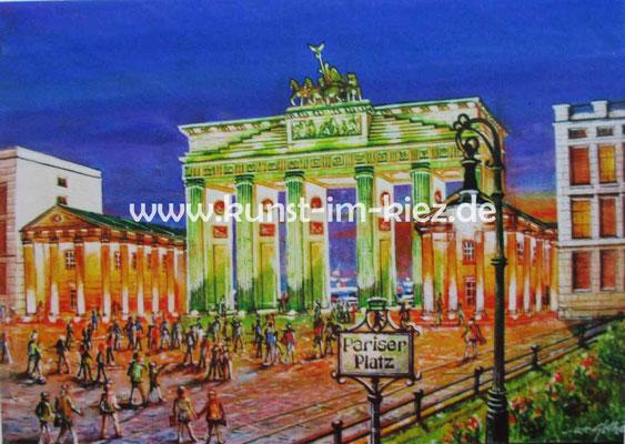 Pariser Platz-Dieter W. Glathe- 50x60cm-Acryl auf Leinwand