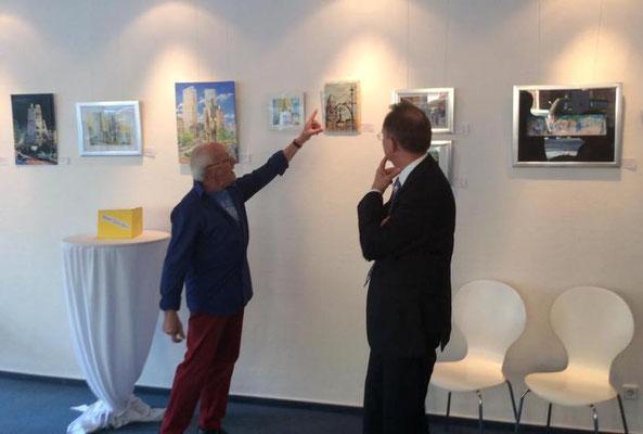Künstler Dieter W. Glathe im Gespräch mit Klaus-Dieter Gröhler/Foto:Team Café Wahlkreis