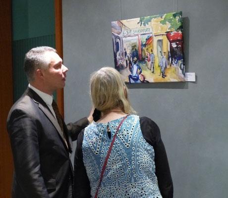 Vernissage Kunst im Kiez-Sabine Glathe-14.4.16