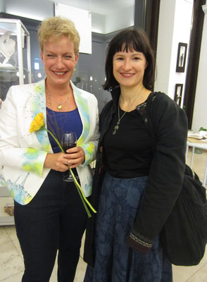 Gast und Künstlerin Sabine- Vernissage- Weibliche Enthüllungen-13.09.2017- Galerie Kunst und Grün-Berlin