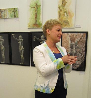 Eröffnung Künstlerin Sabine Glathe- Vernissage- Weibliche Enthüllungen-13.09.2017- Galerie Kunst und Grün-Berlin