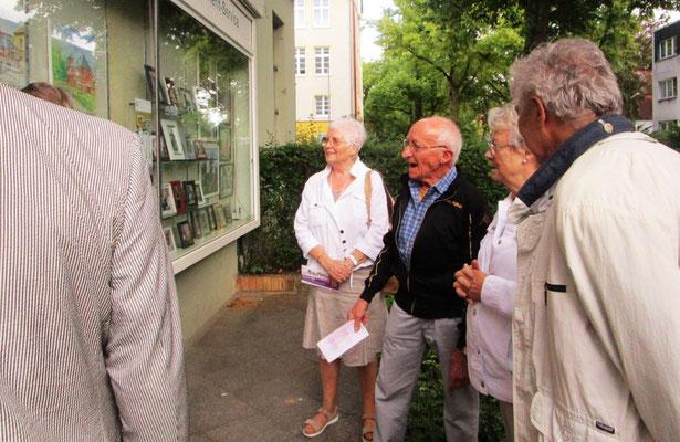 Künstler Dieter W. Glathe im Gespräch- Kunstfenster in Lichtenrade 2017