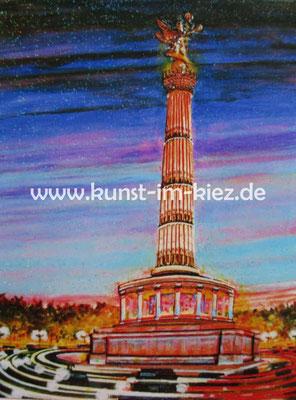 Rotes Rathaus-Dieter W. Glathe- 40x50 cm-Acryl-Gel-Pappe auf Leinwand