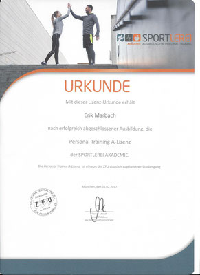 Personal Training A-Lizenz