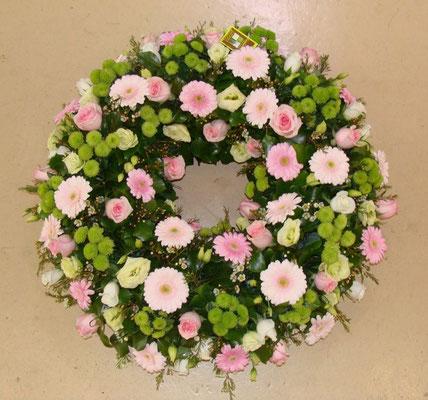 C2-La Couronne à Plat de fleurs variées