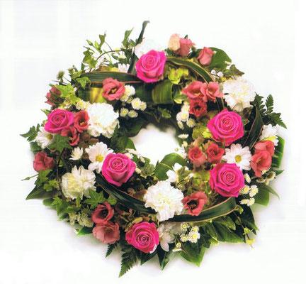 C1-La Couronne à Plat de fleurs variées