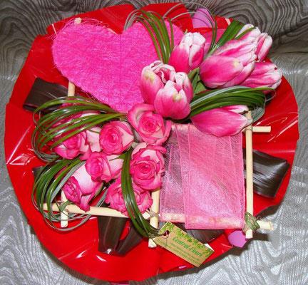 BS4-rose rose et tulipe rose
