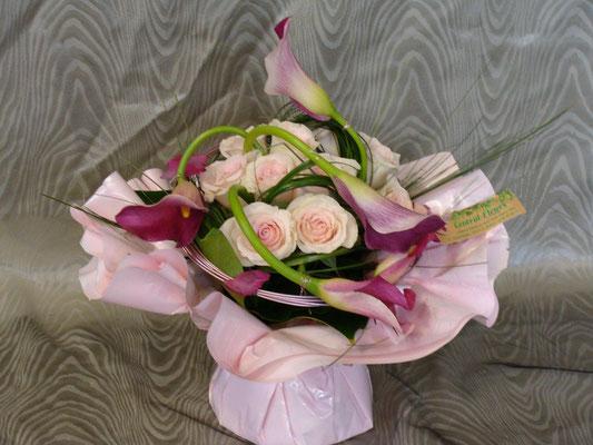 BR4-Rose et arum violet