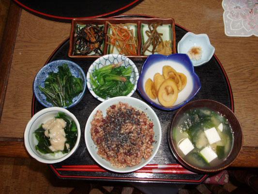 夏の夕食メニュー