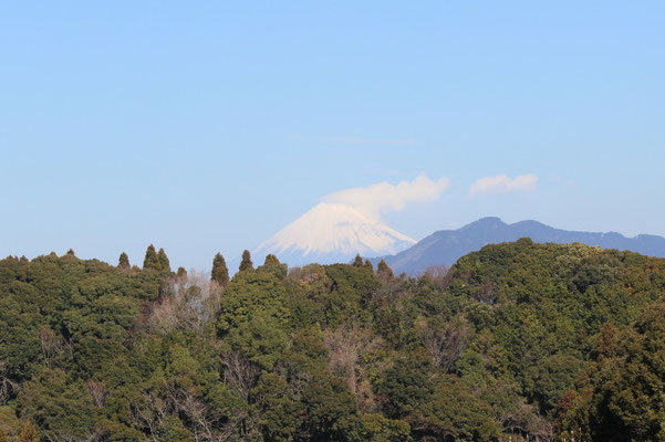 ふるさと村から望む富士山