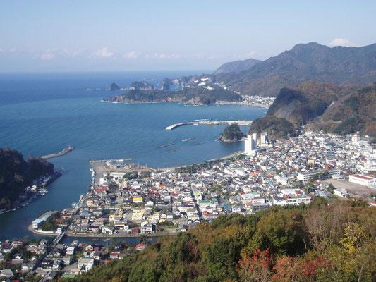 松崎町全景