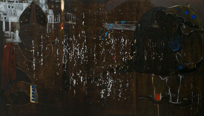 """""""Kulturerschöpfung"""", 280x160cm, Mischtechnik auf LW, 2009-2012"""