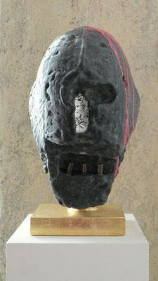 """""""wenn Gott erwacht"""", h.ca.50cm, Mischtechnik auf Wachs auf Gips, 2008"""